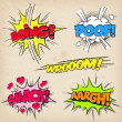 Stock Vector: Comic Sound Effects with Grunged Style