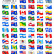 Stock Vector: AmericVector Waving flag Set