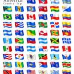 挥舞着国旗的美国向量组 — 图库矢量图片 #41017045