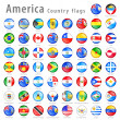 Stock Vector: AmericVector flag Button Set