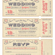 Stock Vector: Vector Wedding Invite Tickets