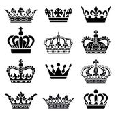 Vector Crown Set — Stock Vector