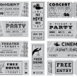 Stock Vector: Grunge Vector Grayscale Tickets Collection 3