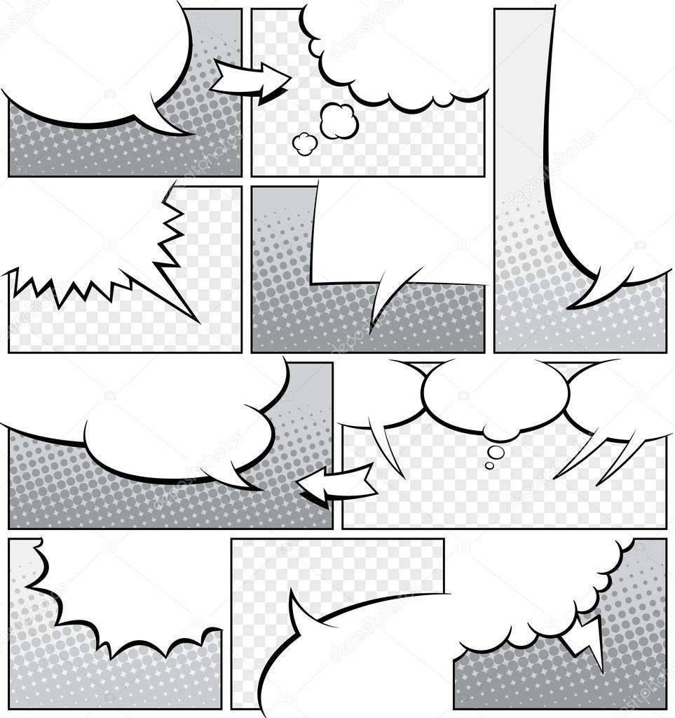 comic book script template - modelo de p gina de livro de banda desenhada em tons de