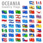 Vector Oceanian National Flag Set — Stock Vector