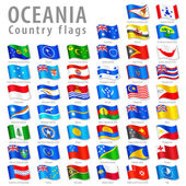 Vector Oceanian National Flag Set — Stock Vector