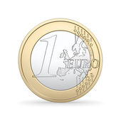 High quality render of a 1 Euro coin — Stock Photo