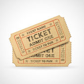 Vector Grunge Cinema tickets — Stock Vector