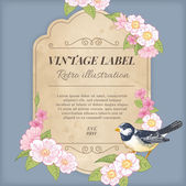 Vintage Label Illustration — Stock Vector