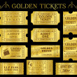 Golden Vector Ticket Templates — Stock Vector #49194309