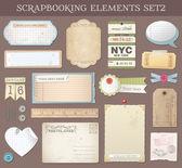 Vector Scrapbooking Elements Set 2 — Stock Vector