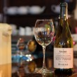 Shabo Shardone's white wine on bar counter — Stock Photo #32090481