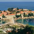 Sveti Stefan resort island-hotel in Montenegro — Stock Photo