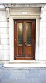 Brown wooden door — Stock Photo