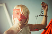 Themis with scales — Stock Photo