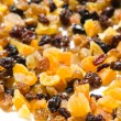 Vertical image of isolated dried fruits — Stock Photo