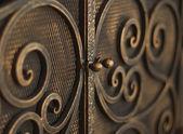 Closeup metal grate — Stock Photo