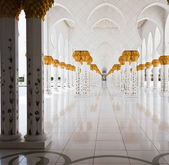 Marble hall in mosque — Stock Photo