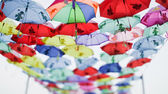 Colored umbrellas — Stock fotografie