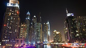 Dubai Marina illuminated — Stock Photo