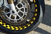 Wheel and brakes — Stock Photo