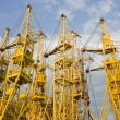 Stock Photo: Building cranes