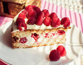 Cake of raspberry — ストック写真