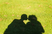 Shadow of a kiss — Stock Photo