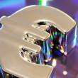 Silver euro symbol - Stock Photo