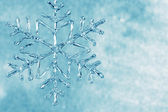 Glass snowflake — Stock Photo