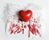 Wounded heart — Stock Photo