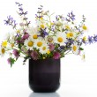Vase with wildflowers - Stock Photo