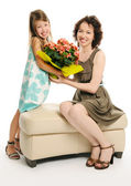 Mother with daughter — Stock Photo