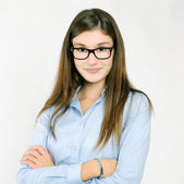 Pretty girl with glasses — Stock Photo