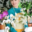 Cheerful florist — Stock Photo