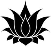 Lotus flower — Stock Vector