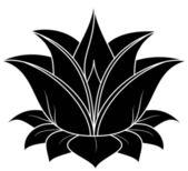 Flor de loto — Vector de stock