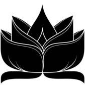 Lotus 037 — Stock Vector