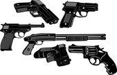 Sagoma di pistola — Vettoriale Stock