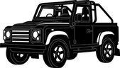 4x4 Truck Silhouette — Stock Vector