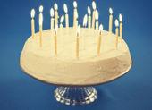 Narozeninový dort — Stock fotografie