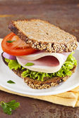 Healthy sandwich — Stock Photo