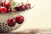 Close-up fresh cherries — Stock Photo