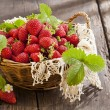 Strawberries in basket — Stock Photo #27301249