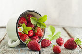 Strawberries in cup — Stock Photo
