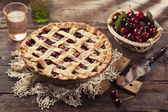 Cherry pie — Stock fotografie