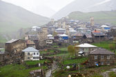 Village Ushguli in Upper Svaneti in Georgia — Stock Photo