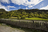 Fence on a mountain pasture — Stock Photo