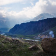 Caucasus Mountains near Stepantsminda village — Stock Photo