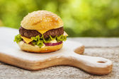 Tasty cheeseburger — Stock Photo